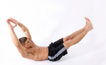 a man doing the v-sit core strengthening exercise